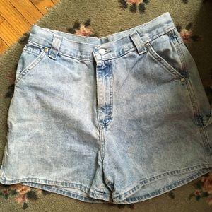 VINTAGE Lee Light Wash High Waisted Jean Shorts
